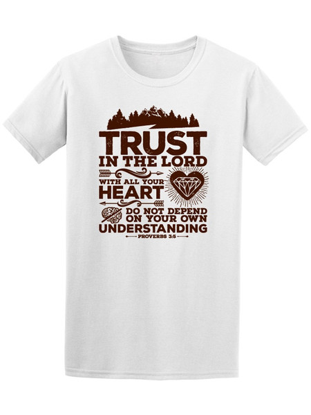 Proverbes confiance dans le Seigneur Bible hommes tee-shirt