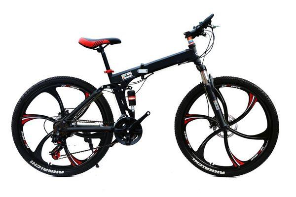 b2c7b76cadf 26inch folding mountain bike 24 speed double damping 3/6 knife wheel  bicycle double disc