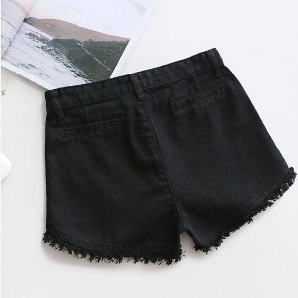 8b5bacba08 2019 Fashion Summer Women Colorful Fringe Denim Shorts Cotton High Waist  Plus Size Short