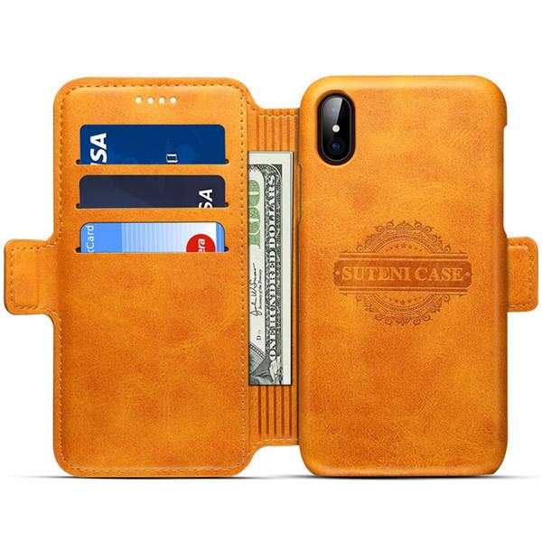 Chegada nova Moda Tampa Do Telefone Móvel para IPhoneX 7 P / 8 P 7/8 6/6 pçs 6/6 s Multi-função Cartão Tampa Dois Em Uma Carteira 6 Cores Disponíveis