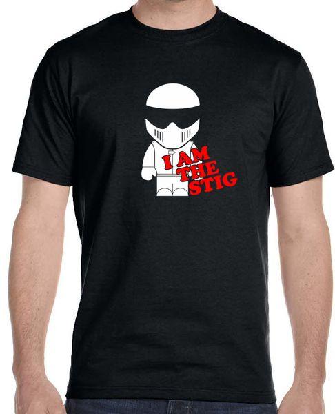 Round Neck Teenage Pop Top Tee I Am The Stig Top Gear Automotive Tv Show T-Shirt Top Quality T Shirts Men O Neck