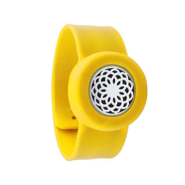 Enfants Réglable 25mm Lotus Mosquito Repellent Bracelet Huile Essentielle Diffuseur Bracelet Enfants Hommes Femmes Silicone Bracelets