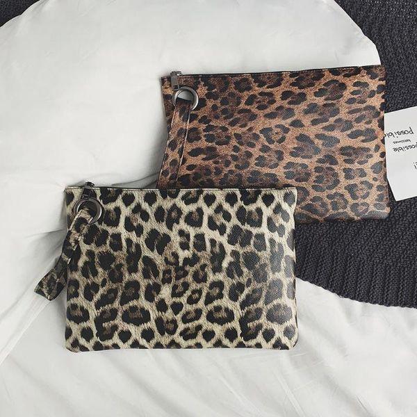 Leopard Print handbags women bags leather designer summer 2018 clutch bag women envelope bag evening female Day Clutches