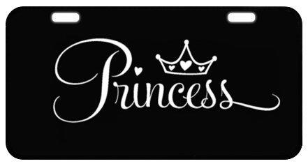 """Sturdy and Beautiful License Plate Holders Princess Crown for Cars Decorative Front Plate 6.1"""" X 11.8"""""""