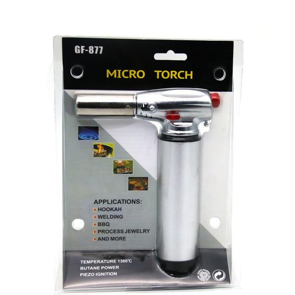 Hot Selling Gas Butane gas Torch Lighter Kitchen blow high temperature electronic gas torch spray gun cigar windproof lighter WZGF-877