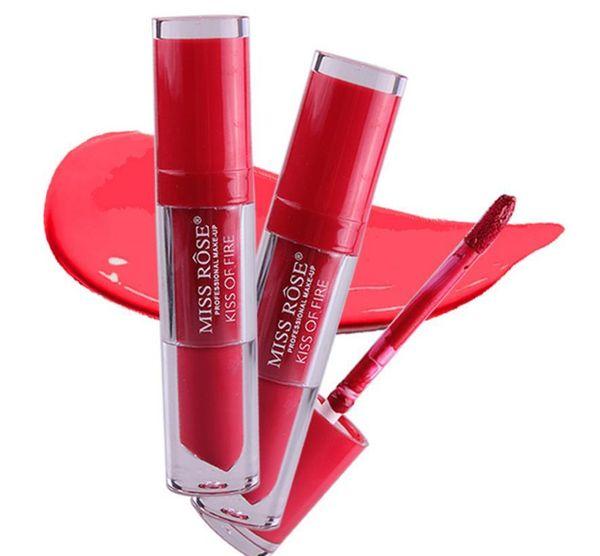 MISS ROSE Brand Nude Matte Lipstick-Lips Moisturizer Metal Color Liquid Lipstick Matte Lip Gloss Beauty Makeup Cosmetics