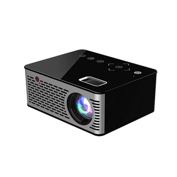 T200 Pocket LED Micro Projector,Touch keys HDMI USB AV Video Game Projector Beamer Support External Power Bank