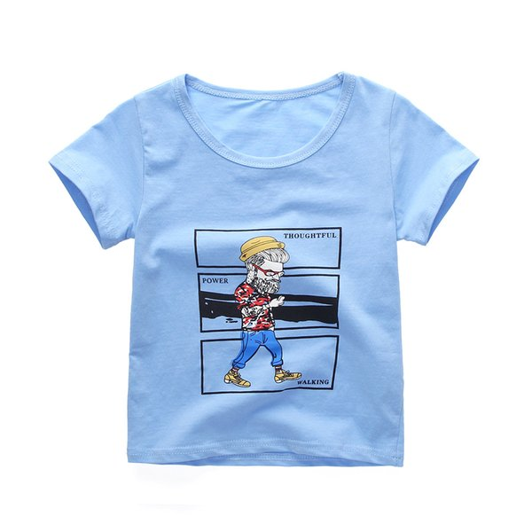 Baby Boys T-shirt Summer Edition Printed Cotton Short Sleeve Korean Version Children's Fashion T-shirt Kids Clothes