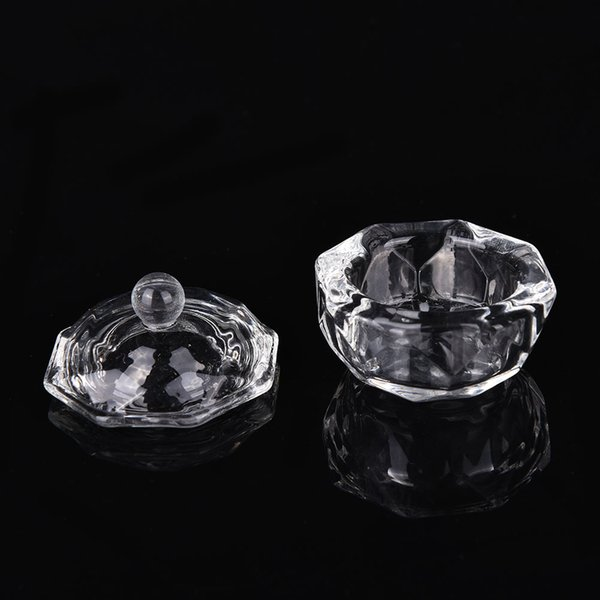 1Pc Crystal Glass Nail Art Dappen Dish Cup Acrylic Liquid Makeup Powder Nail Styling Tool Equipment Tools Beauty & Health