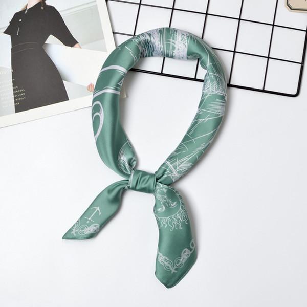 Лето шелковый шарф женщины 70 * 70 площадь шелковый шарф море корабль мешок украшения шарфы Foulard бандана оголовье