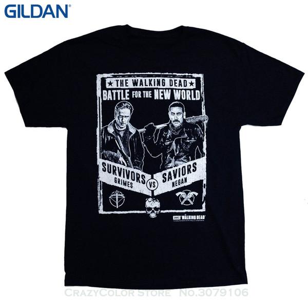 Оптовая скидка мужчины и женщины Майка Бесплатная доставка мужская Граймс Неган борьба плакат футболка