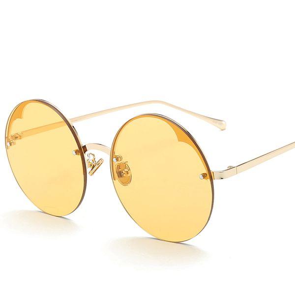 d1608cac4 Fashionable design Glasses Half Frame Women Round Glasses Sunglasses Women  Round Mirror Circle uv400 anti-