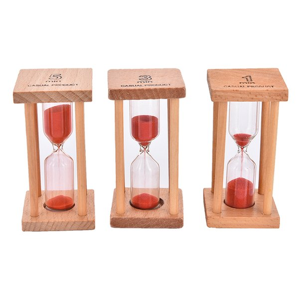 Funny Nice Games Gift Mini Sandglass 1/3/5 Minutes Hourglass Sand Clock Timer Home Decor