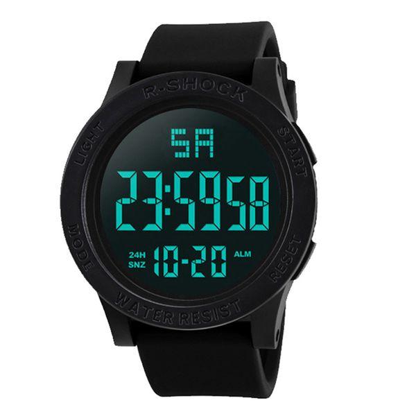 Fashion Men LED Watches Waterproof Men's Boy LCD Digital Stopwatch Date Rubber Sport Wrist Watch Luxury Sport Clock