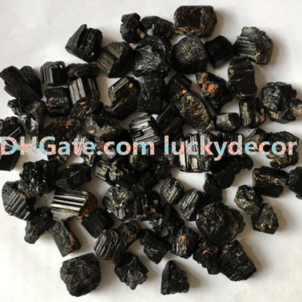 100g Random Size Irregular Raw Black Tourmaline Mineral Specimen Gemstone Nuggets Rough Natural Black Tourmaline Stones Reiki Altar Crystal