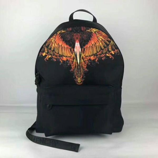 High-end quality new arrivel designer fashion korean men school backpack hot selling brand Punk rivet women shoulder daypack student bags