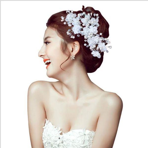 Bridal Headwear Drill U Kristall Haar Blume Hochzeit Kopfbedeckungen
