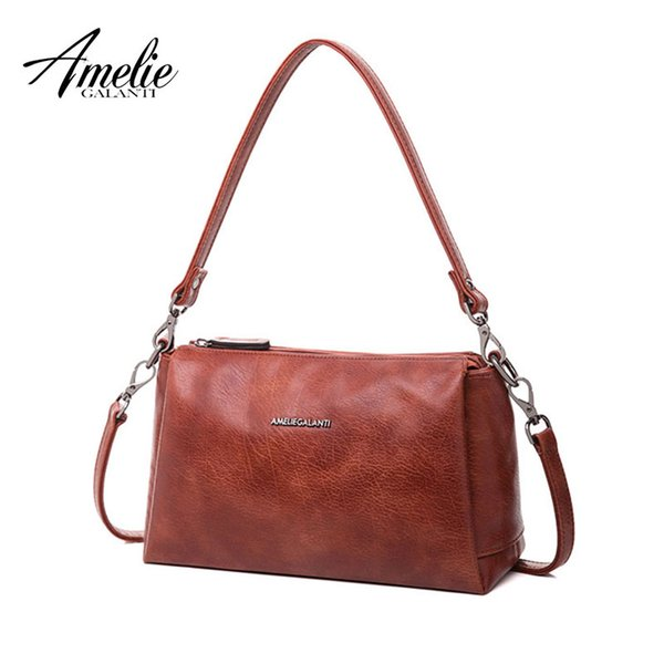 wholesale small 3 zipper crossbody bag for women practical stylish high quality PU Leather zipper multi pocket with strap