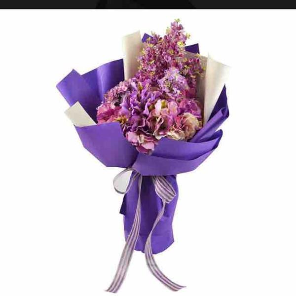100 Pcs DIY papel Kraft plana papel de embrulho de flores materiais de embalagem dos desenhos animados bouquet de papel de embalagem loja de flores decorar o casamento