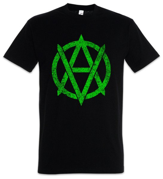 VEGANANARCHISM SYMBOL T-SHIRT Vegan Anarchy Logo Punk Veganer Vegetarier Shirt Funny free shipping Unisex Casual