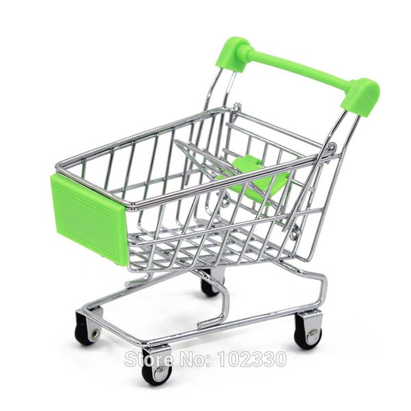 120 pcs Mini Supermarché Handcart Utilitaire Panier Mode Organisateur De Stockage Orange Enfant Cadeau Cadeau De Noël