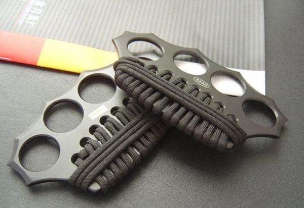 Alta qualità AZAN d'ottone tirapugni, quattro dita di ferro, di acciaio integrata che formano strumenti EDC di trasporto
