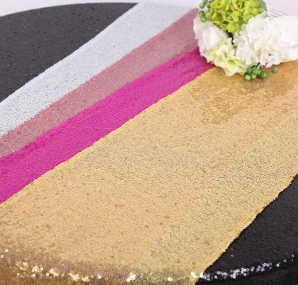 best selling Sequin Table Runner Shiny Glitter Table Runner Table Decoration for Home Wedding Dinner Party 30*275 cm