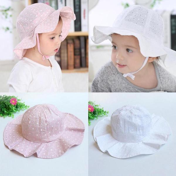 20b03d87eb2 Baby Sun Cap Toddler Infant Kids Soft Cotton Summer Hat Outdoor Basin Cap  Cute Casual Newborn