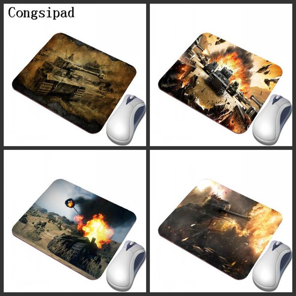 Congsipad2018 New Tank World Pattern Print Game Mouse Pad Rectangular Rubber Non-slip Computer Desk Mat Can Be Used As A Gift