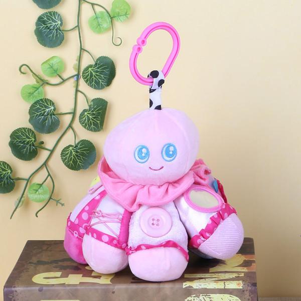 Wholesale- Animal Giraffe Octopus Plush Hand bells Rattle Bed Hanging Kids Baby Soft Toys W30