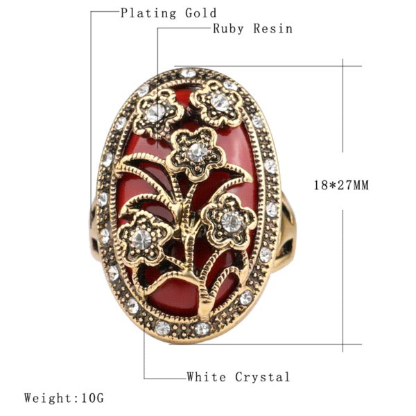 Free Shipping 2015 Charms Fashion Vintage Wedding Flower Rings High Quality Color Flower Design For Women