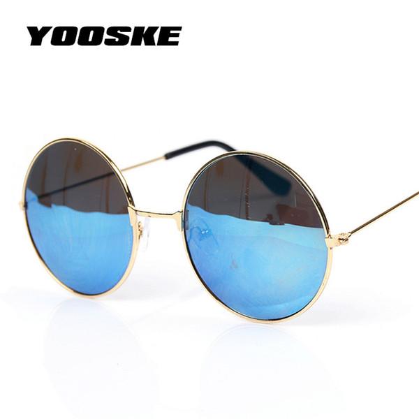 9a72892ec Atacado-YOOSKE Vintage rodada óculos de sol para mulheres homens marca  Designer espelhado óculos Retro feminino masculino óculos de sol Mens  Womens Pixel
