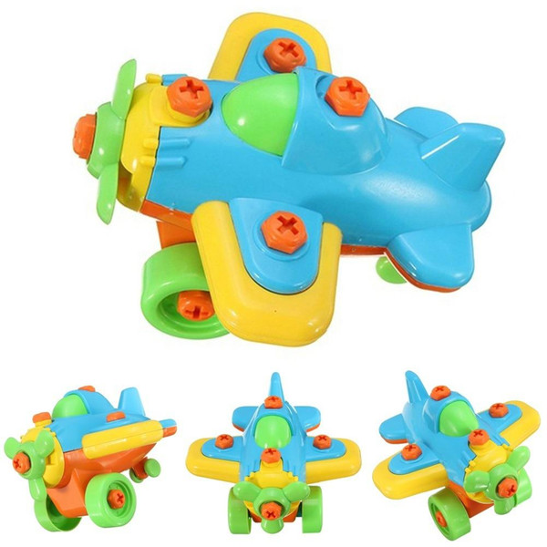 Kids Small Plane Puzzle Blocks Assembled Model Educational Toys Xmas Gifts