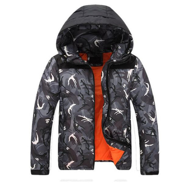 Free shipping 2018 Winter Jacket Men Camouflage Wear Male Coat Cheap Down Jacket Parkas Hooded Trench Snow Cold