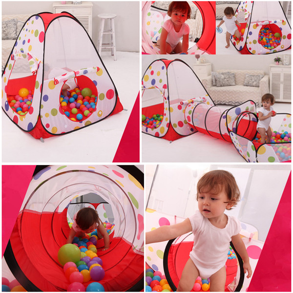 detailed look ffedf 1651e Pool Tube Teepee Pop Up Play Tent Children Playing Tunnel Kids Play Gaming  Toy House Play Tent Lodge For Children Ball Tent For Kids Best Tent For ...