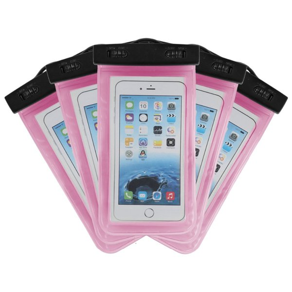Pure color For Iphone 8 waterproof bag Waterproof Case Bag PVC Protective Universal Phone Case bag swimming hot spring cellphone pouch