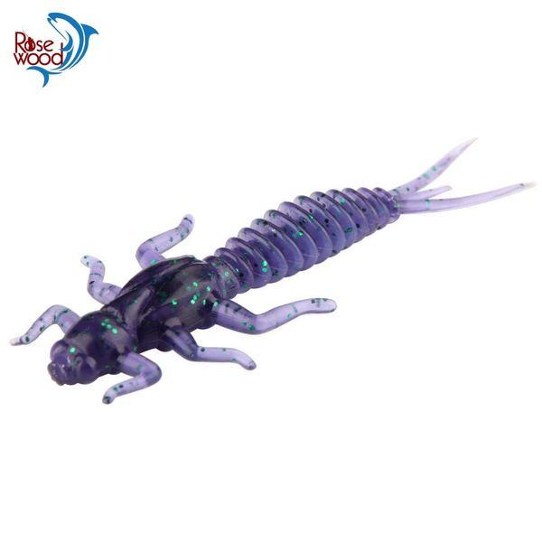 RoseWood Larva Soft Lure 1.4g 6cm Swimbait Worm Fishing Bait Isca Artificial Lifelike Dragonfly Jigging Fishing Tackle China Y18101002