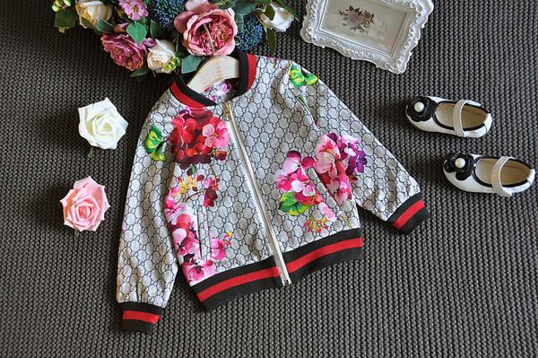 Moda Treino OutfitsMikrdoo 2017 Bebê Outono Floral Clothes Set Crianças Menino Menina Manga Comprida Top Flores Calças 2 Pcs Ternos
