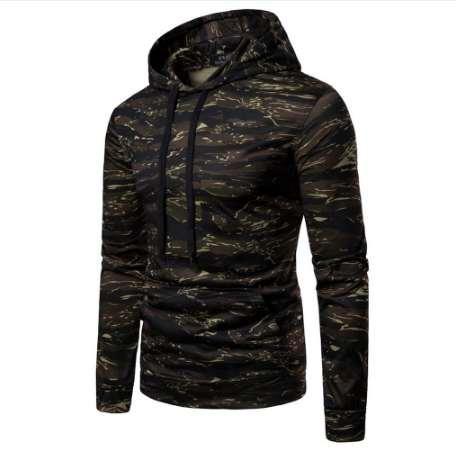 FeiTong Camo Male Sweatshirts Men Autumn Casual Camouflage Long Sleeve Pullovers Sweatshirt Hoodie Coat Top Brand Hoodies