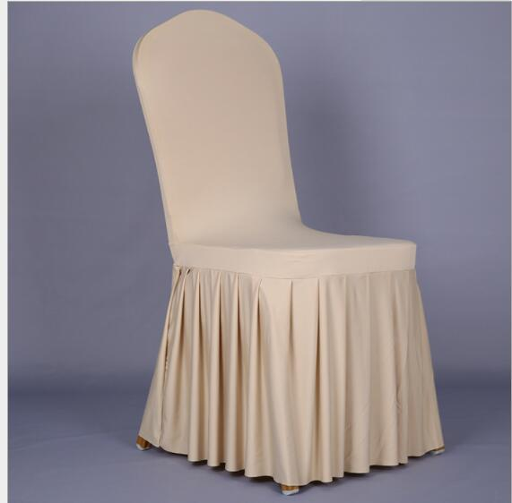 Wedding Chair Cover Sashes Elastic Spandex Chair Band Bow Pleated Skirt Style Weddings Event Party Accessories