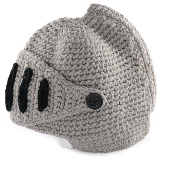 1 PC New Fashion Womens Men Crochet Knitted Winter Warm winter man hat Beanie Wool Roman Knight Helmet Hat Cap