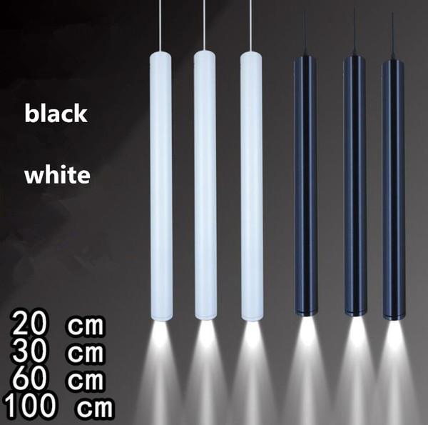Tubo LED largo proyector colgante 3W 7W 12W COB lámpara de techo 20 cm 30 cm 60 cm techo barra colgante tipo candelabro