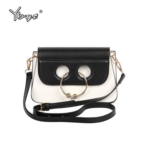 YBYT brand 2018 new women fashion casual bovine nose ring bag ladies high quality clutch female shoulder messenger crossbody bag
