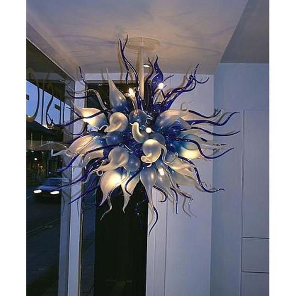 Iluminación de lujo para el Comedor Certificado CE lámpara de cristal soplado decoración del hogar de estilo americano de la lámpara pendiente de la lámpara