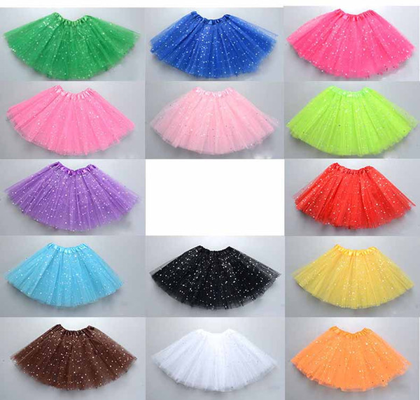 best selling lovely girls kids tutu skirt dress pettiskirt clothes party ballet dance wear star colorful because style skirts