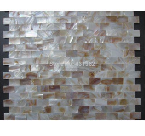 Compre Tira Natural Colorido Concha Mosaico Azulejo Nácar Backsplash De La Cocina Baño Fondo Pared Papel Decorativo Azulejos A 15076 Del A408886441