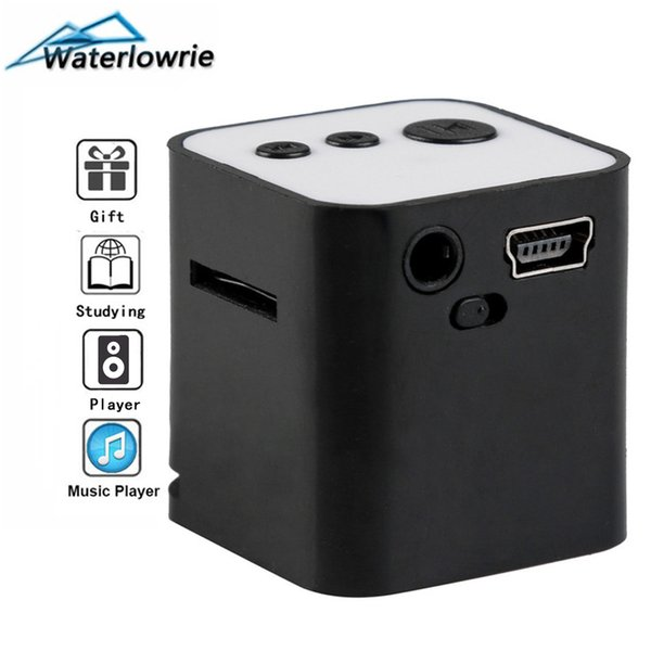 Waterlowrie Portablei Music MP3-Player Min MP3 Player walkman Built-in Speaker mp 3 Support 8G Micro SD/TF Card for Holiday Gift