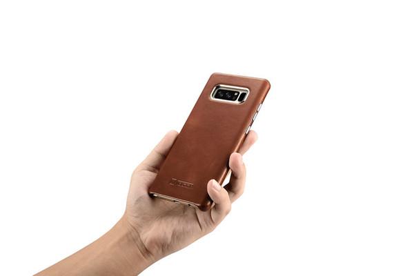 Custodia Smartphone Custodia In Vera Pelle Di Lusso ICarer Samsung