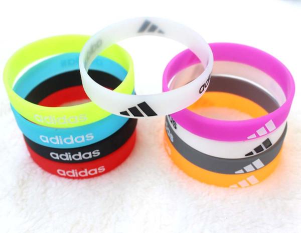100шт красочные силиконовые браслеты навсегда браслеты день рождения Xmas партия подарок