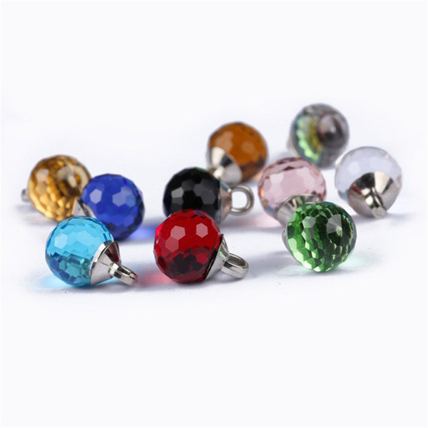 Meetee 20pcs/Lot 10mm Multicolor Rhinestone diamond spherical glass Buttons for Clothing Accessories DIY Crafts C2-3